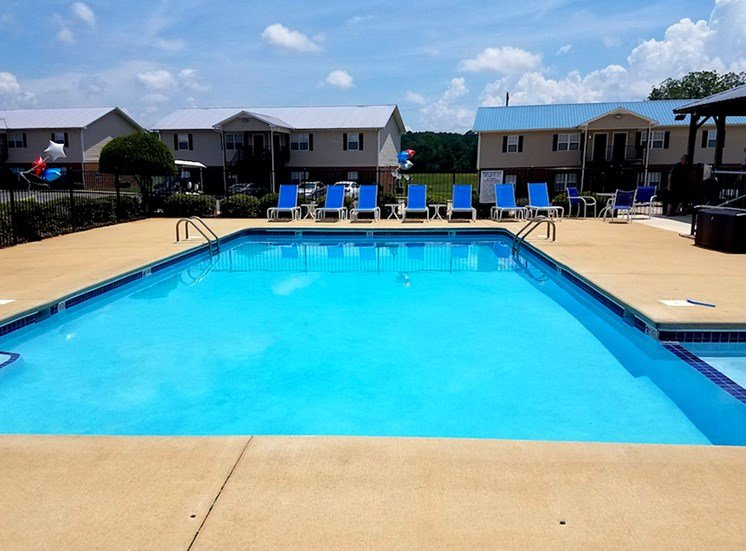 Mountain View Apartments in Anniston sparkling pool with large sundeck