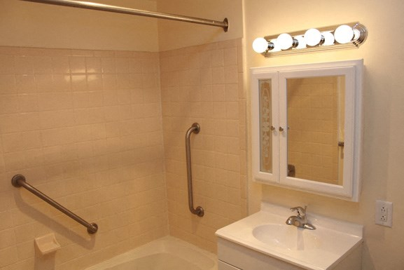 Brewster Mews - Bathroom - Senior Apartments in Amherst