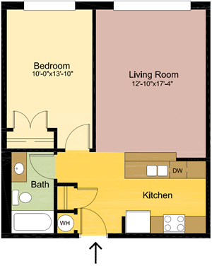 1 Bedroom – 1 Bathroom