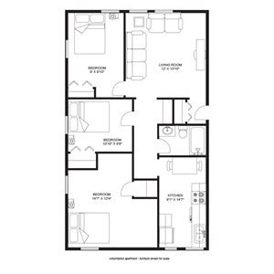 3 Bedroom/1 Bath