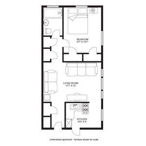 1 Bedroom/1 Bath - Garden Level