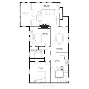 2 Bedroom/1 Bath