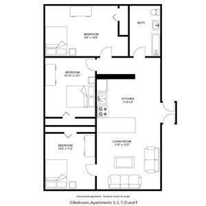 Large 3 Bedroom/1 Bath