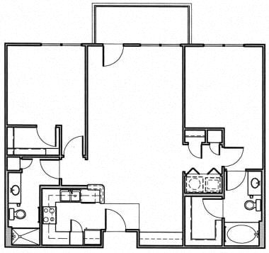 2 Bedroom Floor Plan 6