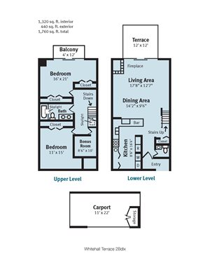 Whitehall Terrace Two Bedroom Deluxe