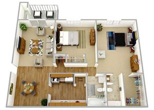 Two Bedroom One and Half Bath Lower