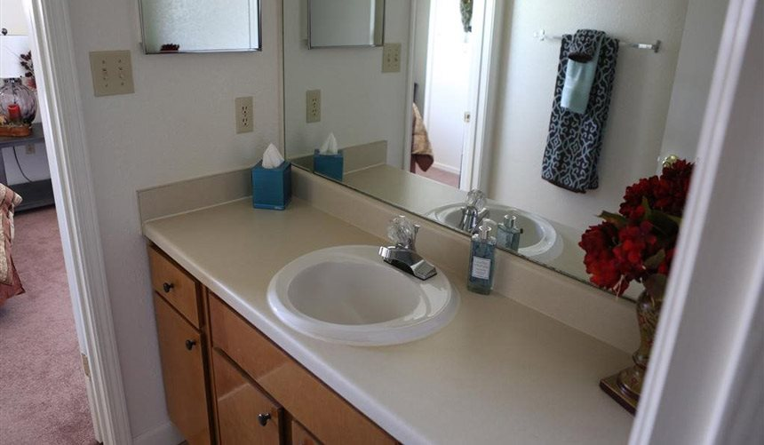 Alta Terra Living, has Designer Granite Countertops in all Bathrooms