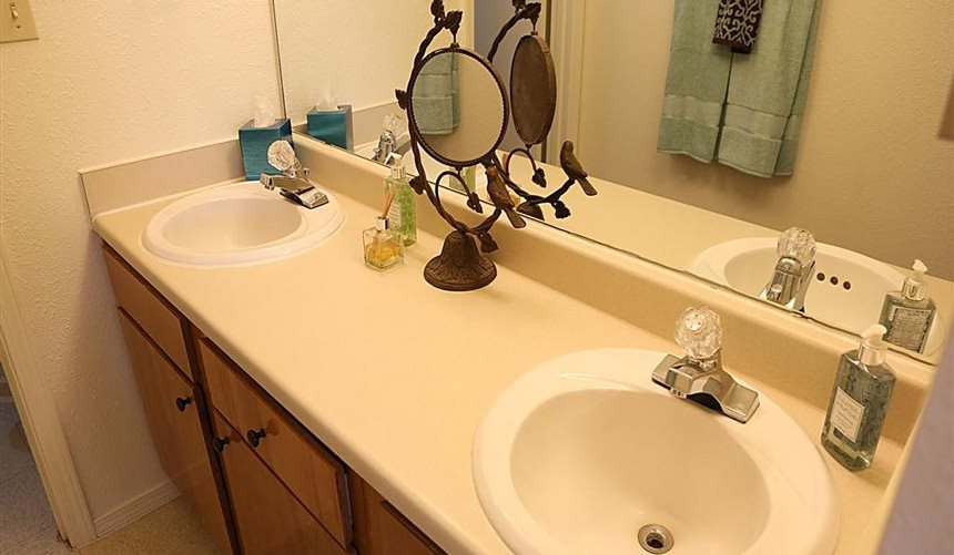 Designer Granite Countertops in all Bathrooms at Alta Terra Living