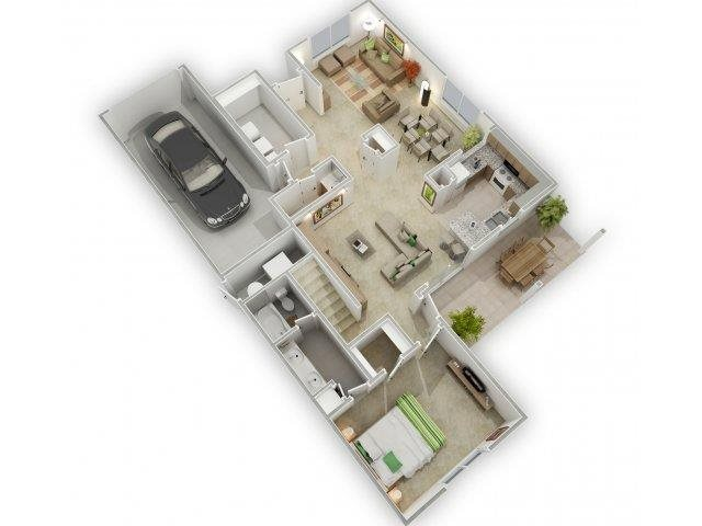 White Clouds Floorplan at Alta Terra Living