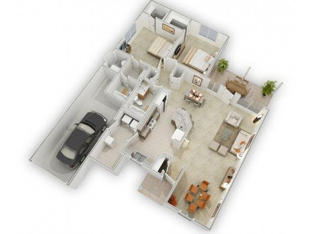 Red Hills Floorplan at Alta Terra Living