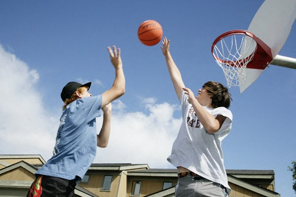 Basketball courts at Birchwood Homes, Fairbanks, AK,99701