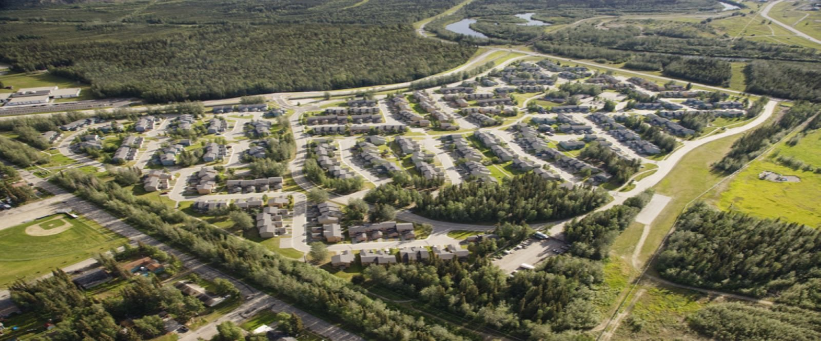 Aerial View at Birchwood Homes, Alaska