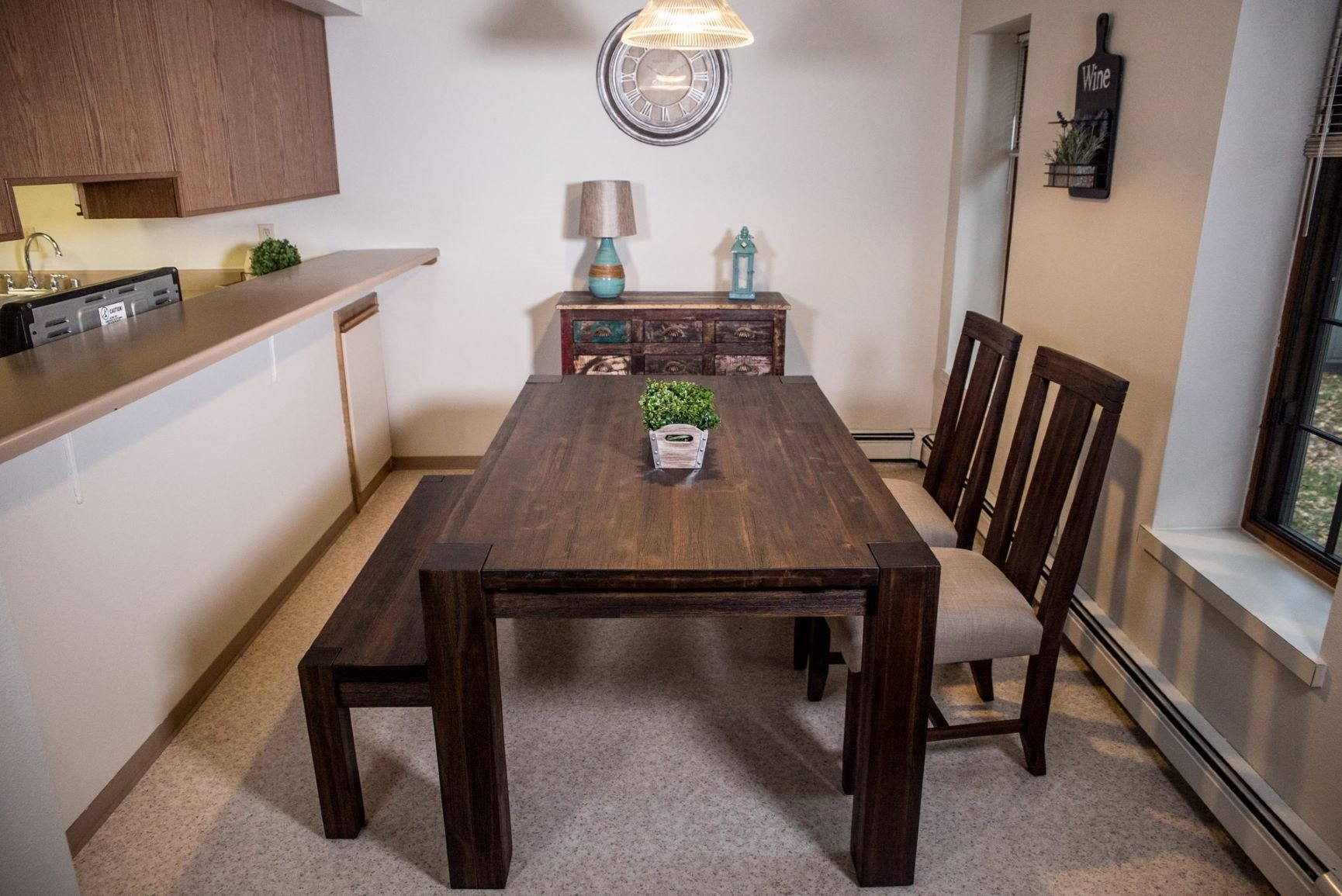 Attached Dining Area at Birchwood Homes, Fairbanks