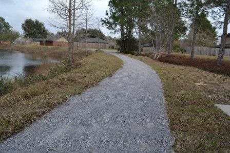 Sidewalks throughout the community  at Three Waters Green apartments in Pensacola, FL  32506