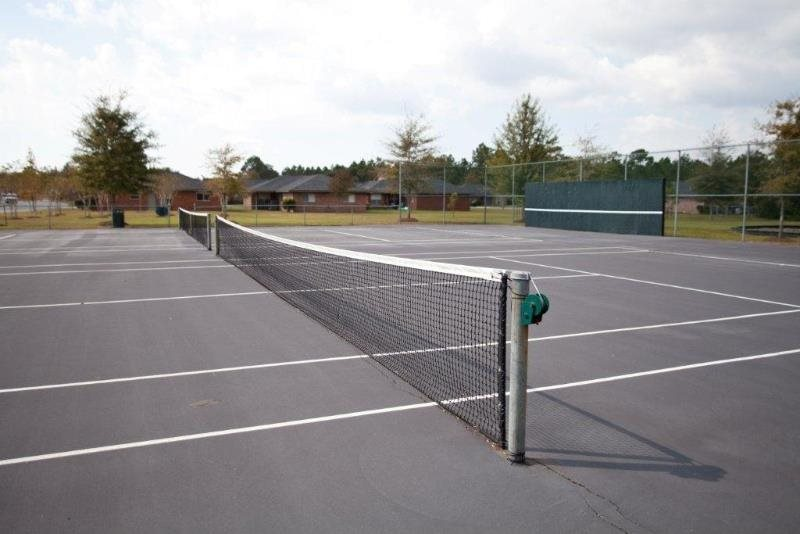 Synthetic Tennis Courts at Three Waters Green apartments in Pensacola, FL  32506