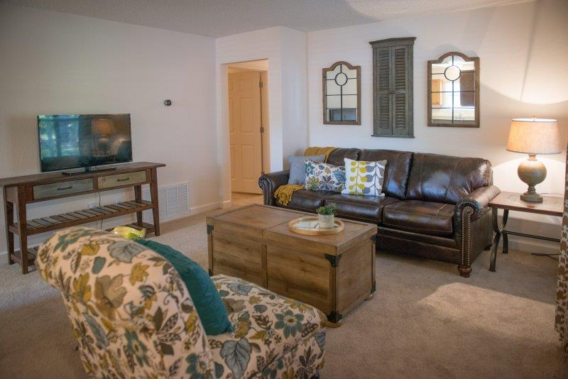 Modern Yet Classic Living rooms at Three Waters Green apartments in Pensacola, FL  32506