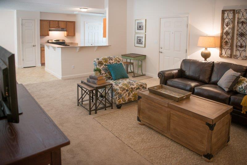 Spacious Interior at Three Waters Green apartments in Pensacola, FL  32506
