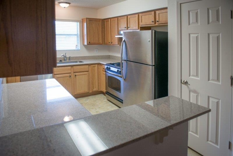 Refrigerator and Freezer w/ ice maker at Three Waters Green apartments in Pensacola, FL  32506