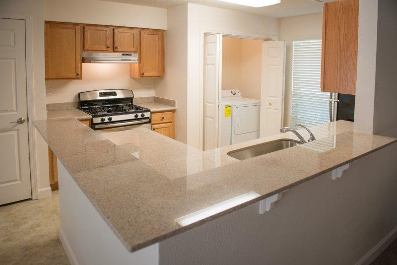 Beautiful backsplash at Three Waters Green apartments in Pensacola, FL  32506