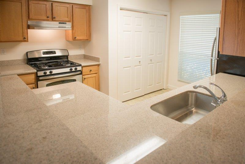 Solid Cultured Marble Bathroom Counter Tops at Three Waters Green apartments in Pensacola, FL  32506