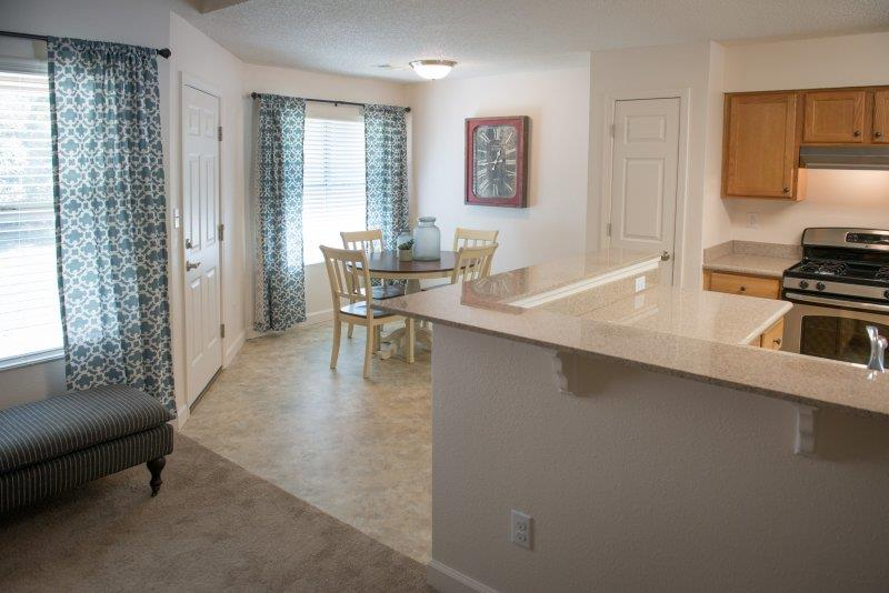 Eat-in Kitchens at Three Waters Green apartments in Pensacola, FL  32506