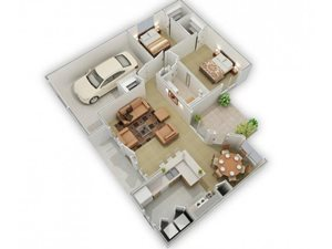 The Brook Meadow Floorplan at Three Waters Green apartments in Pensacola, FL  32506