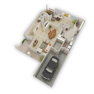 Apartment Floorplan at Raeford Fields apartments in Raeford, Raeford, NC  28376