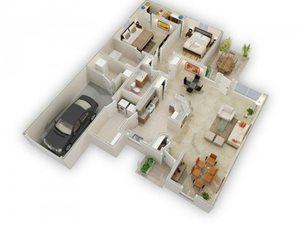 The Azalea Way floorplan at Raeford Fields apartments in Raeford, Raeford, NC  28376