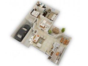 The Bird Song floorplan at Raeford Fields apartments in Raeford, Raeford, NC  28376