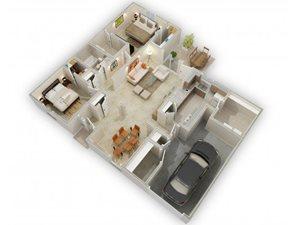 The Oak Winds floorplan at Raeford Fields apartments in Raeford, Raeford, NC  28376