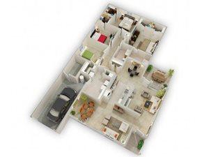 The Orchid Glen Floorplan at Raeford Fields apartments in Raeford, Raeford, NC  28376