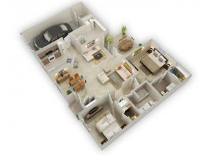 The Yarrow Drift floorplan at Raeford Fields apartments in Raeford, Raeford, NC  28376