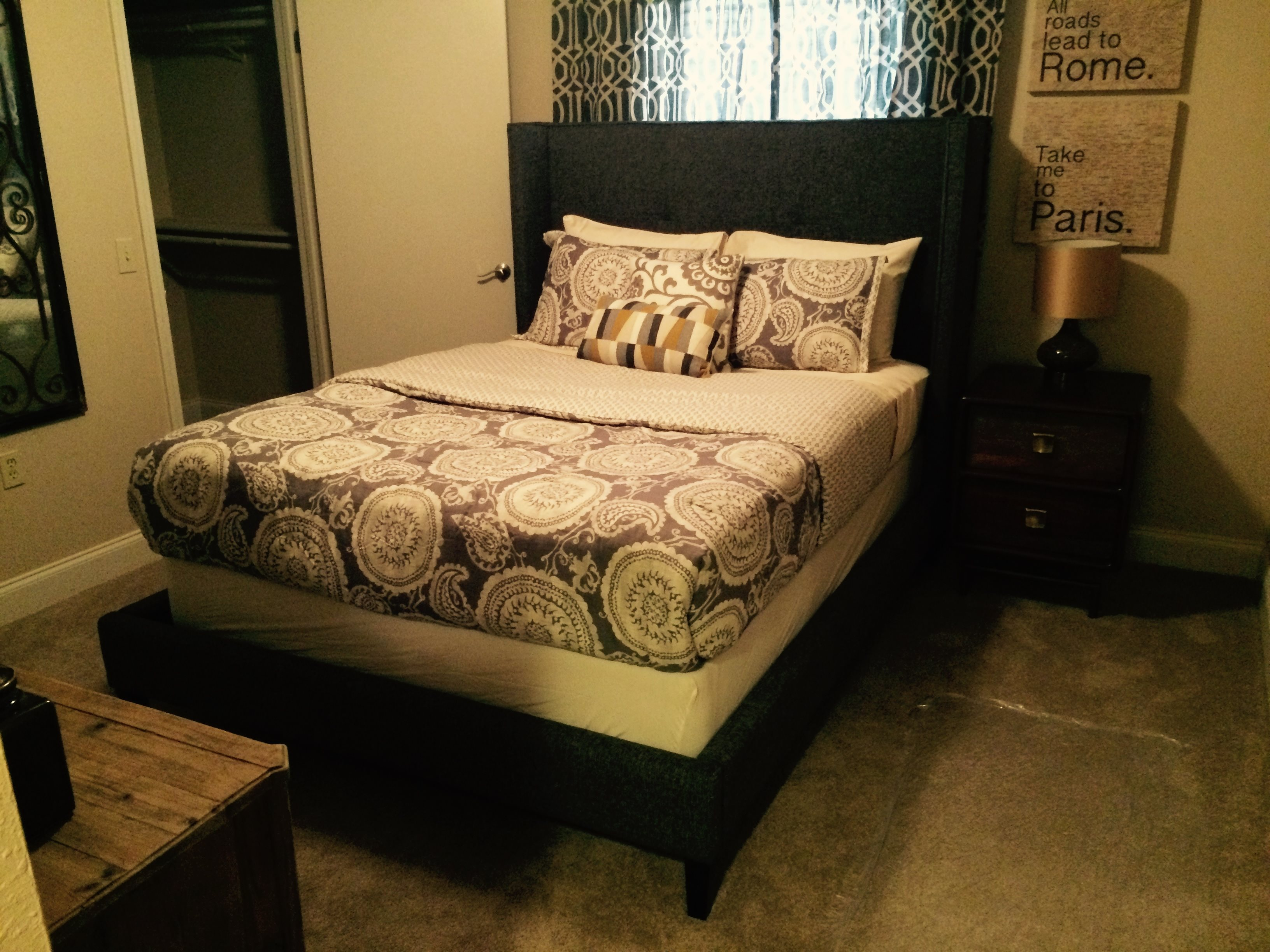Orchid Glen master bed at Raeford Fields apartments in Raeford, Raeford