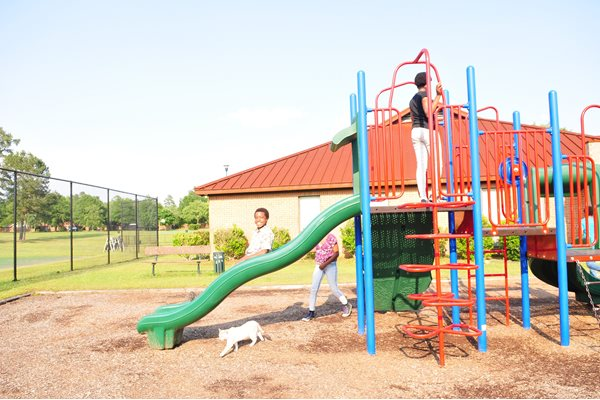 Playground With Amenities at Raeford Fields apartments in Raeford, 28376