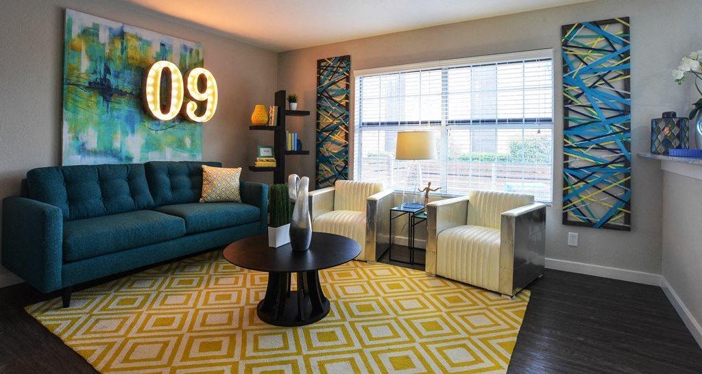 Living Room san antonio apartments