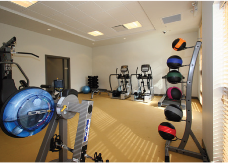 Exercise machines in fitness center-Mercer Commons Apartments Cincinnati, OH