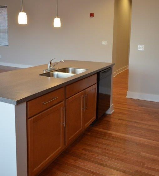 Kitchen island and sink-Mercer Commons Apartments Cincinnati, OH