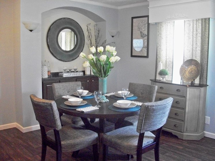 Dining Space at Pine Village Rental Home Community in Sanford, NC