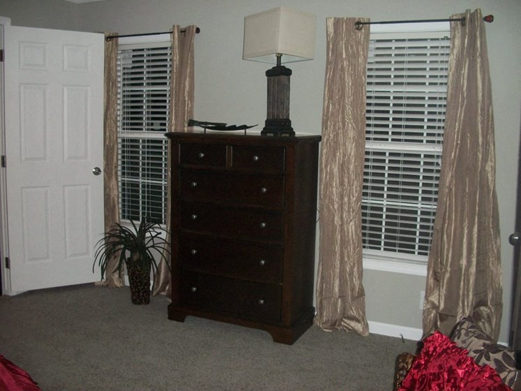 Master Bedroom at Pine Village Rental Home Community in Sanford, NC