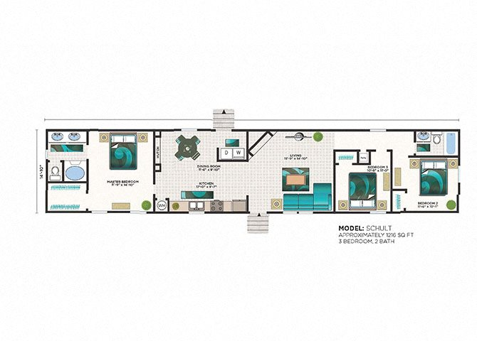 3 Bedroom Rental Homes In Sanford Pine Village