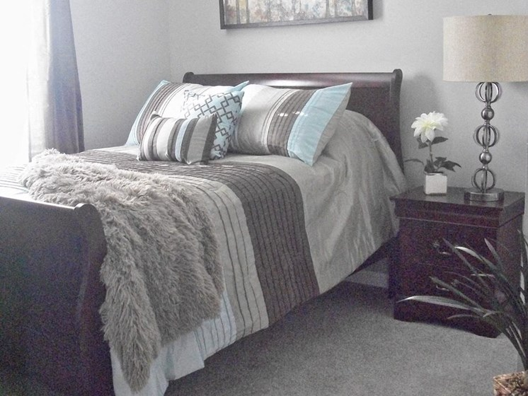 Spacious Bedrooms at Pine Village Rental Home Community in Sanford, NC
