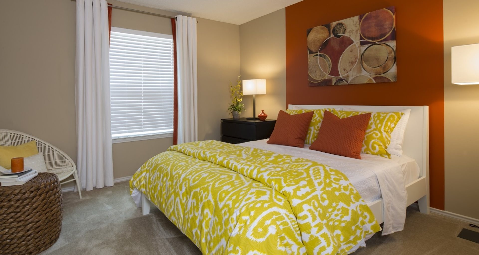 luxurious bedroom at Grand Highlands at Mountain Brook Apartment Homes Vestavia, Birmingham, AL 35223
