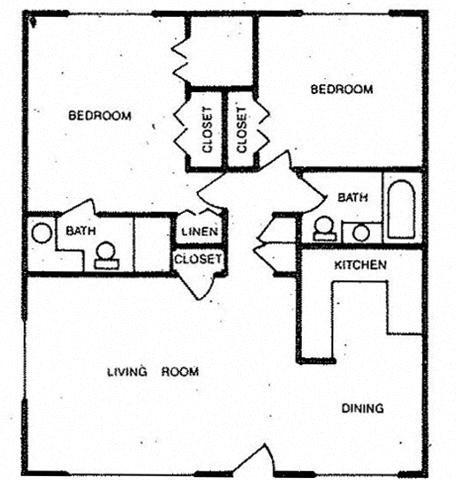 Two Bedroom Floor Plan 3