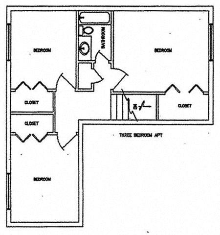 Three Bedroom Floor Plan 3