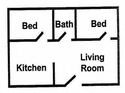 2 Bedroom Large Floor Plan 3