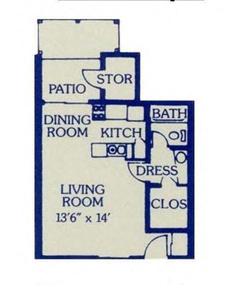 Studio Large Floor Plan 2