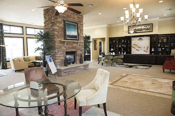 Relaxing Clubhouse at The Enclave at Pamalee Square Apartments in Fayetteville