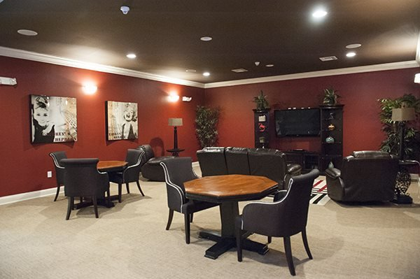 Movie Theater Room at The Enclave at Pamalee Square Apartments, Fayetteville, NC 28301