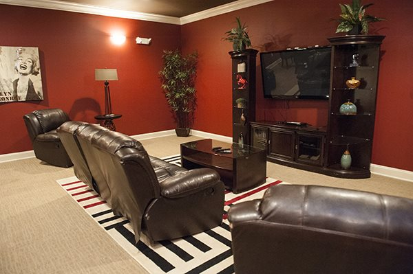 Movie Theater Room at The Enclave at Pamalee Square Apartments, Fayetteville, NC,28301
