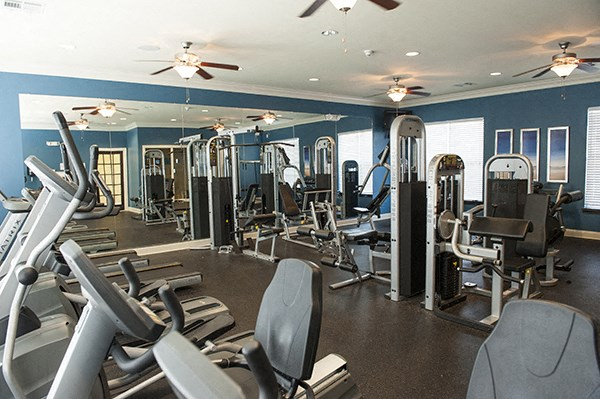 Fully Equipped Fitness Center at The Enclave at Pamalee Square Apartments, Fayetteville, NC,28301